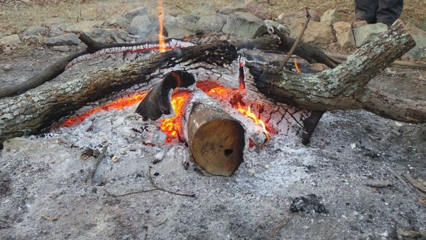 Jan 1 – New Year Day AT Hike to Waterfall – Campfire